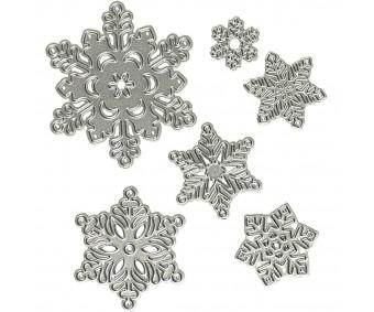 Lõiketerad 2-6cm, 6 tk - lumehelbed