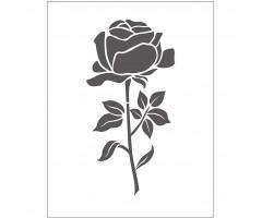 Tekstuurplaat 11x14 cm - roos