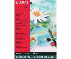 Akvarelliplokk LUKAS Bali - 24x32 cm, 10 lehte