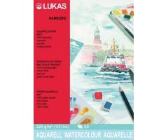 Akvarelliplokk LUKAS Hamburg - 36x48 cm, 20 lehte