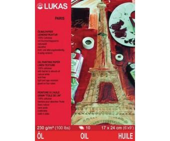 Õlimaali paberite plokk LUKAS Paris - 30x40 cm, 10 lehte