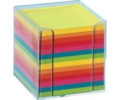 Märkmepaber karbis 9x9cm, 700 lehte - värviline