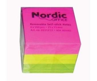 Märkmepaber Nordic Office 75x75mm, 600 lehte