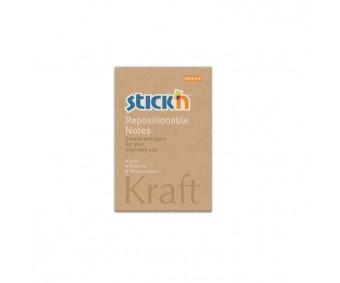 Märkmepaber Stick'n Kraft 50x76mm, 100 l - pruun