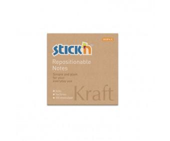 Märkmepaber Stick'n Kraft 76x76mm, 100 l - pruun