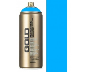 Aerosoolvärv GOLD 400 ml UV-NEOON - Flame Blue - Montana