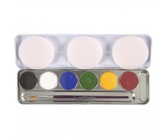 Näovärvid Eulenspiegel - 6 värvi + pintsel