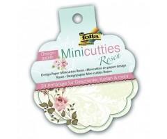 Disainpaberi lõiked Folia Minicutties, 24 lehte - roosid
