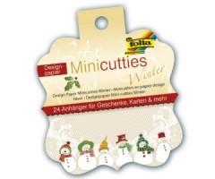 Disainpaberi lõiked Folia Minicutties, 24 lehte - talv