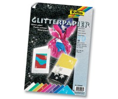 Glitterpaber Folia 23x33cm, 70g/m² - 10 lehte