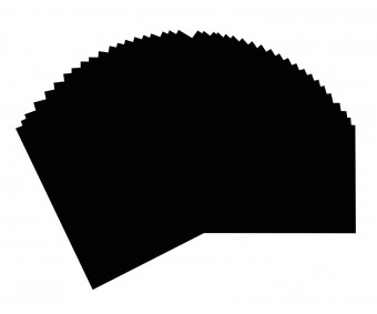Joonistuspaber Folia A3, 130g/m², 50 lehte - must