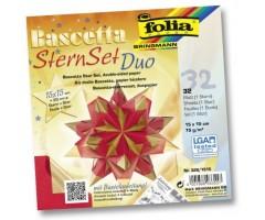 Origami komplekt Bascetta täht - punane/kuldne