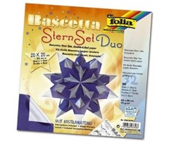 Origami komplekt Bascetta täht - sinine/hõbedane