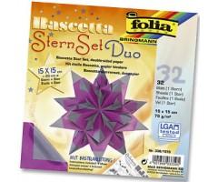 Origami komplekt Bascetta täht - lilla/hall