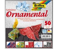 Origamipaber Folia 15x15cm, 50 lehte - Ornamental