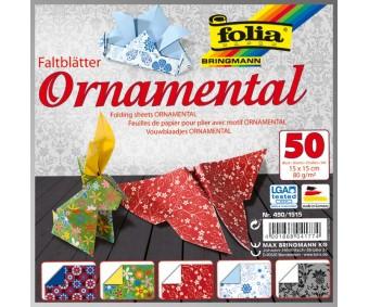 Origami paber Folia 15x15cm, 50 lehte - Ornamental