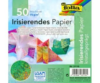 Origami paber Folia Iridescent 14x14cm, 50 lehte - Crystal