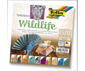 Origamipaber Folia 15x15cm, 50 lehte - Wildlife