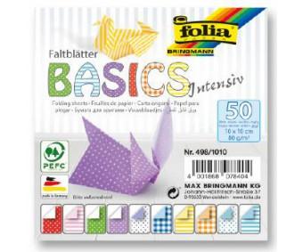 Origamipaber Folia Basics Intensive 10x10cm, 50 lehte