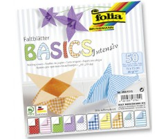 Origamipaber Folia Basics Intensive 15x15cm, 50 lehte