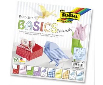 Origami paber Folia Basics Intensive 20x20cm, 50 lehte