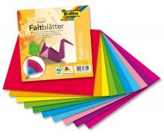 Origami paber Folia Duo (kahevärviline) 10 värvi, 50 lehte - 15x15cm