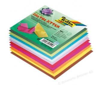 Origami paber Folia 10 värvi, 100 lehte - 15x15cm