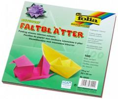 Origamipaber Folia 10 värvi, 100 lehte - 20x20cm