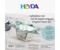 Origami paber Heyda 15x15cm, 30 lehte - jõulud, hõbedane