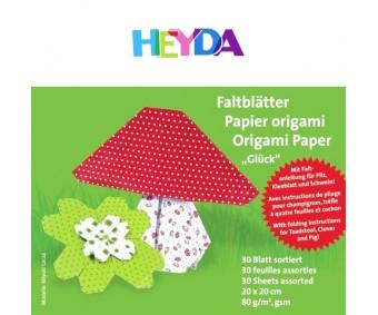 Origamipaber Heyda 15x15cm, 30 lehte - õnn