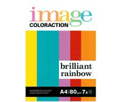 Värvilised paberid Image Coloraction A4, 80g/m², 70 lehte  - Brilliant Rainbow