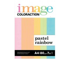 Värvilised paberid Image Coloraction A4, 80g/m², 70 lehte  - Pastel Rainbow