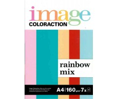 Värvilised paberid Image Coloraction A4, 160g/m², 70 lehte  - Rainbow Mix