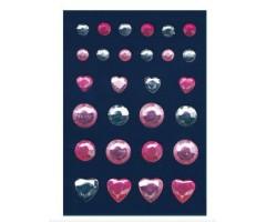 3D kleepsud Glam Rocks - kivikesed, roosa