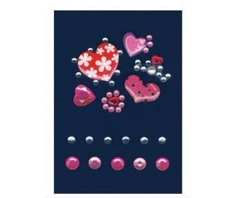 3D kleepsud Glam Rocks - roosad südamed