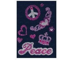 3D kleepsud Glam Rocks - Peace