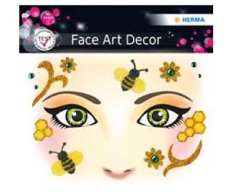 Näokleebis Herma Face Art Decor - mesilane