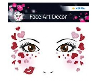 Näokleebis Herma Face Art Decor - südamed