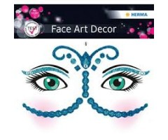 Näokleebis Herma Face Art Decor -  Bollywood