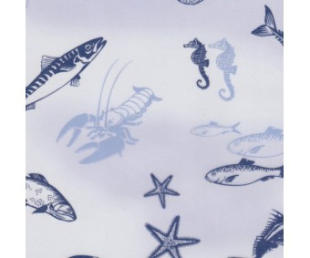 Läbipaistev paber mustriga A4, 5 lehte - mereloomad