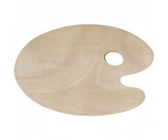 Palett puidust, ovaalne - 20x30 cm