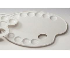 Palett plastikust, ovaalne - 27x35 cm