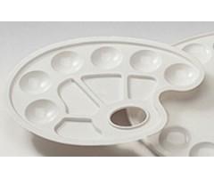 Palett plastikust, ovaalne - 18x25 cm