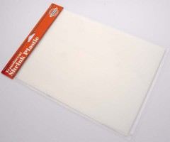 Kahanev plastik (shrink plastic) 21.5x28cm, 1 leht - piimjas