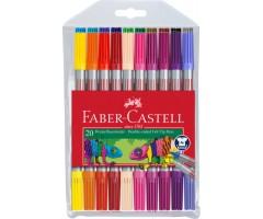 Viltpliiatsid Faber-Castell - kahe otsaga, 20 värvi