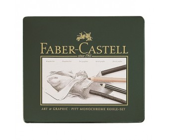 Söe ja söepliiatsite komplekt Faber-Castell Pitt - 22 osa