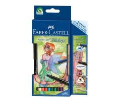 Akvarellpliiatsid Faber-Castell Manga Art Fairies - 8 värvi + tindipliiats + harilik pliiats + pintsel