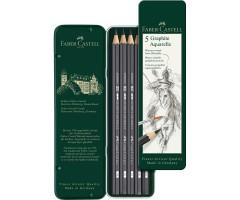 Akvarellitavad grafiitpliiatsid Faber-Castell Graphite Aquarelle - 5 tk (HB–8B)
