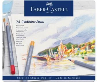 Akvarellpliiatsid Faber-Castell Goldfaber Aqua - 24 värvi