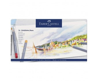 Akvarellpliiatsid Faber-Castell Goldfaber Aqua - 36 värvi